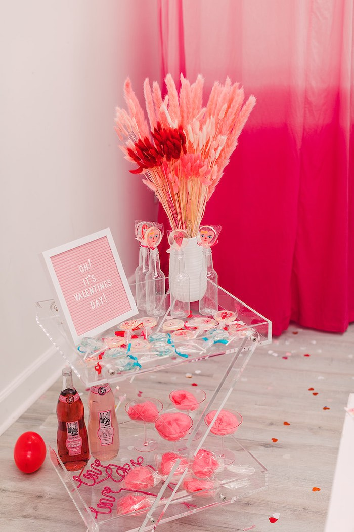 Mini Sweet Table from a Heartbeat Brunch Valentine's Day Party on Kara's Party Ideas | KarasPartyIdeas.com (21)