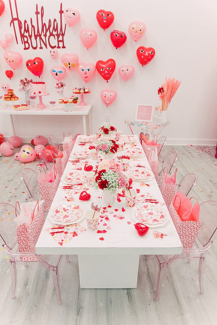 Valentine's Day Brunch Table from a Heartbeat Brunch Valentine's Day Party on Kara's Party Ideas | KarasPartyIdeas.com (20)