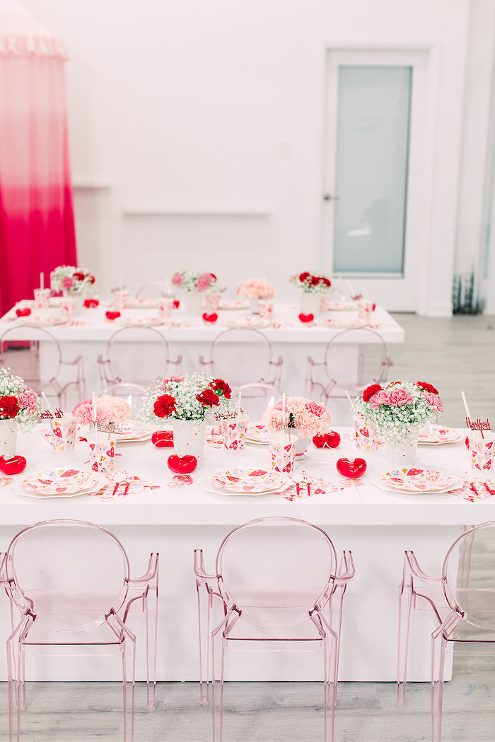 Valentine's Brunch Tables from a Heartbeat Brunch Valentine's Day Party on Kara's Party Ideas | KarasPartyIdeas.com (47)
