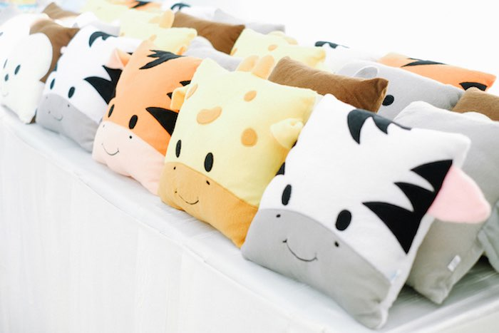 Safari Animal Pillows from a Jungle Safari Birthday Party on Kara's Party Ideas | KarasPartyIdeas.com (16)