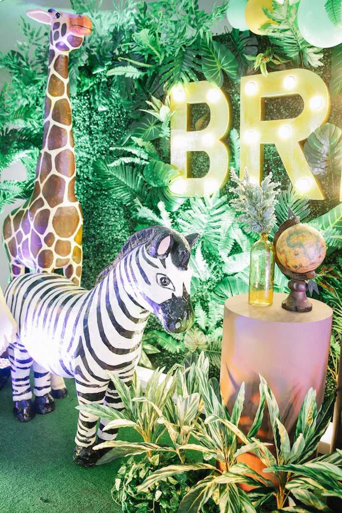 Life-size Zebra Prop from a Jungle Safari Birthday Party on Kara's Party Ideas | KarasPartyIdeas.com (8)