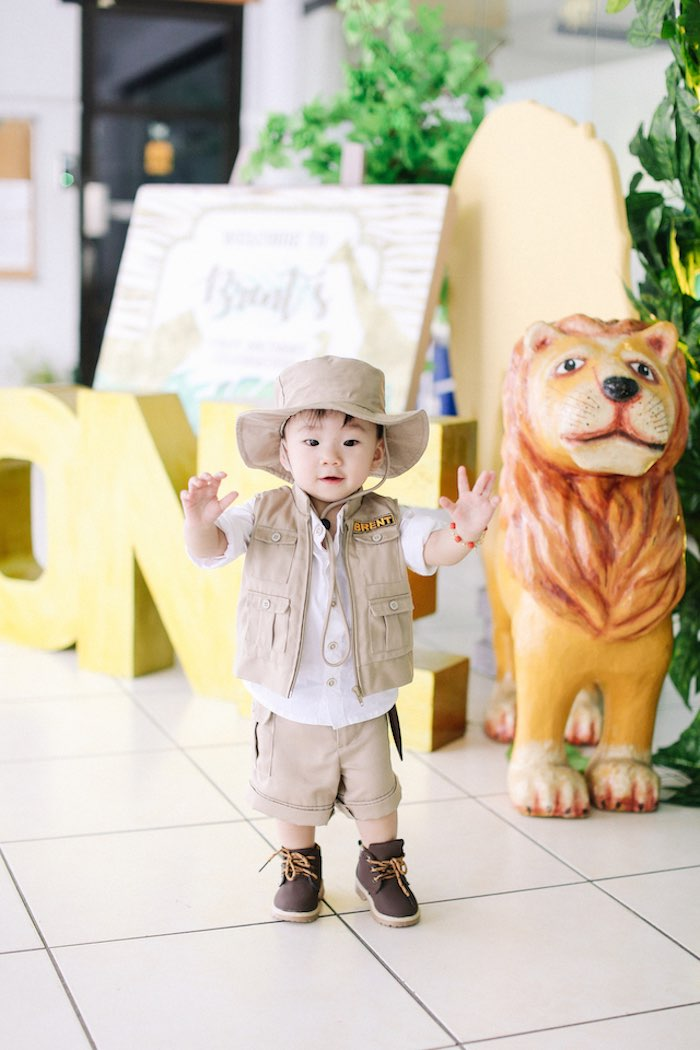 Little Safari Man from a Jungle Safari Birthday Party on Kara's Party Ideas | KarasPartyIdeas.com (5)