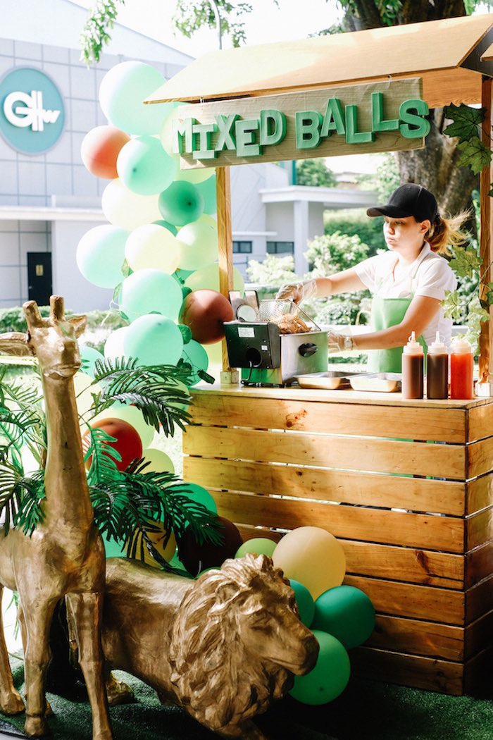 Food Stand from a Jungle Safari Birthday Party on Kara's Party Ideas | KarasPartyIdeas.com (18)