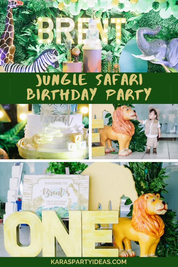 Jungle Safari Birthday Party via KarasPartyIdeas - KarasPartyIdeas.com