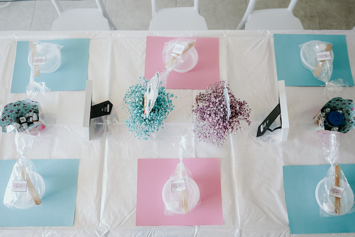 Activity Table from an LOL Surprise Pastel Birthday Party on Kara's Party Ideas | KarasPartyIdeas.com (4)