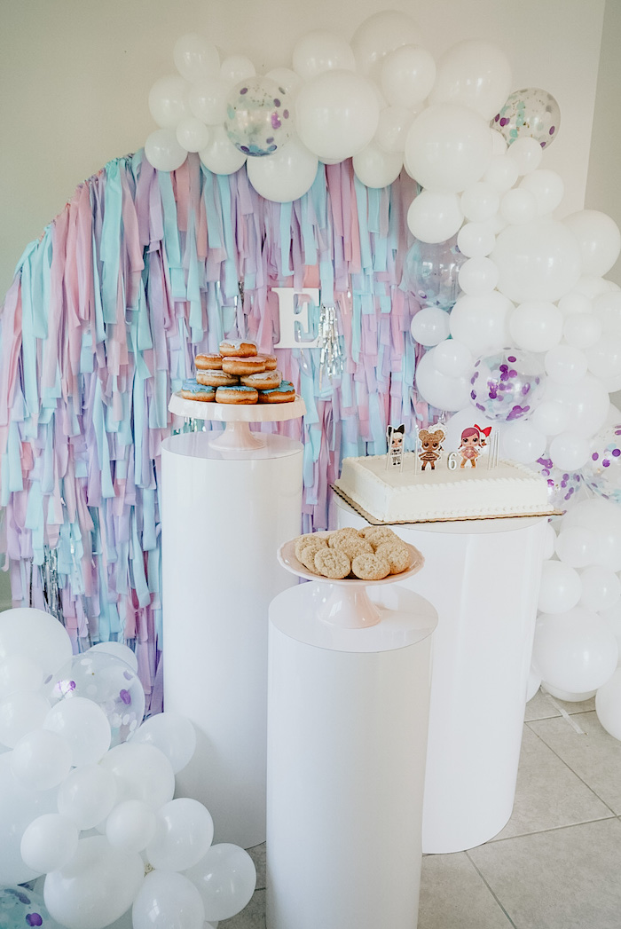 LOL Surprise Dessert Spread from an LOL Surprise Pastel Birthday Party on Kara's Party Ideas | KarasPartyIdeas.com (10)