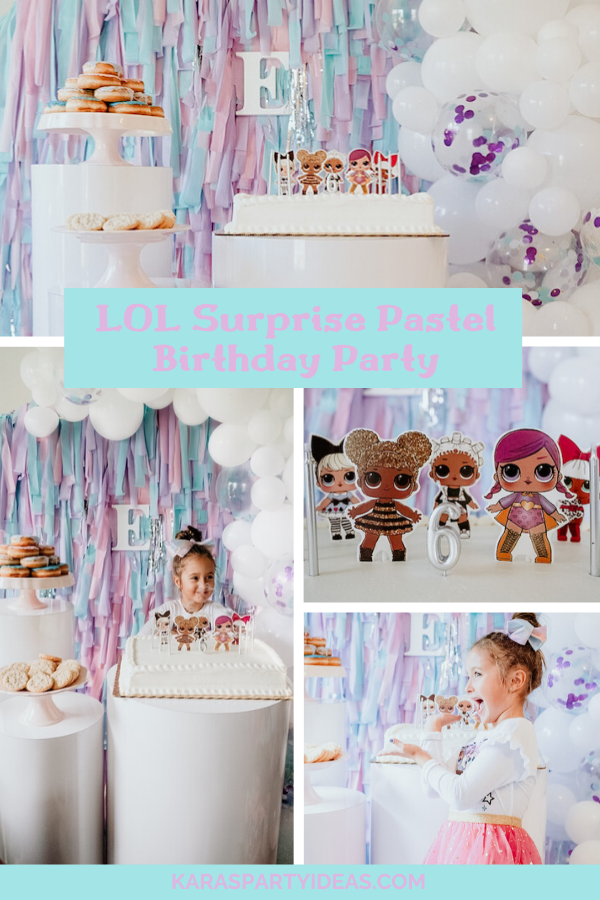 LOL Surprise Pastel Birthday Party via Kara's Party Ideas - KarasPartyIdeas.com