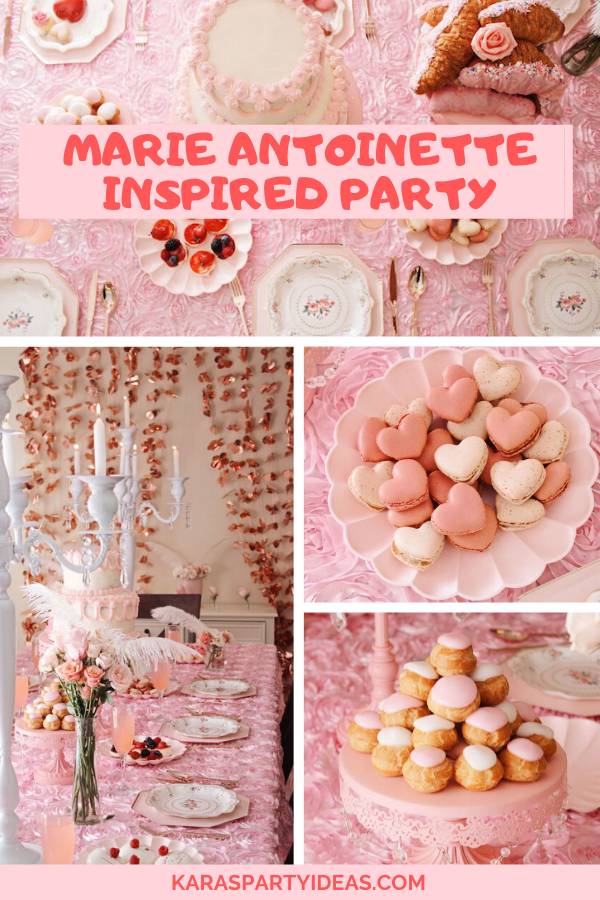 Marie Antoinette Inspired Party via Kara's Party Ideas - KarasPartyIdeas.com