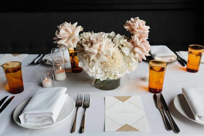 Guest Table + Table Settings from a Melbourne City Wedding on Kara's Party Ideas | KarasPartyIdeas.com (19)