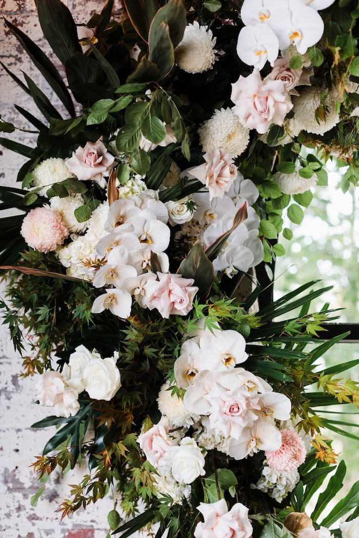 White and Pink Florals + Floral Arch from a Melbourne City Wedding on Kara's Party Ideas   KarasPartyIdeas.com (17)