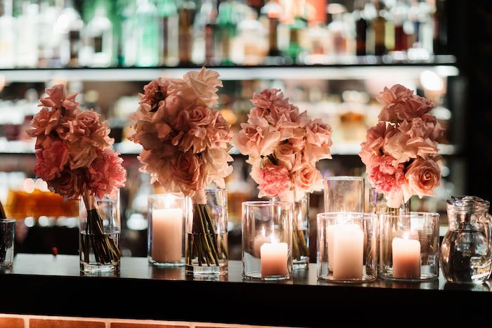 Candles and Blooms from a Melbourne City Wedding on Kara's Party Ideas | KarasPartyIdeas.com (14)