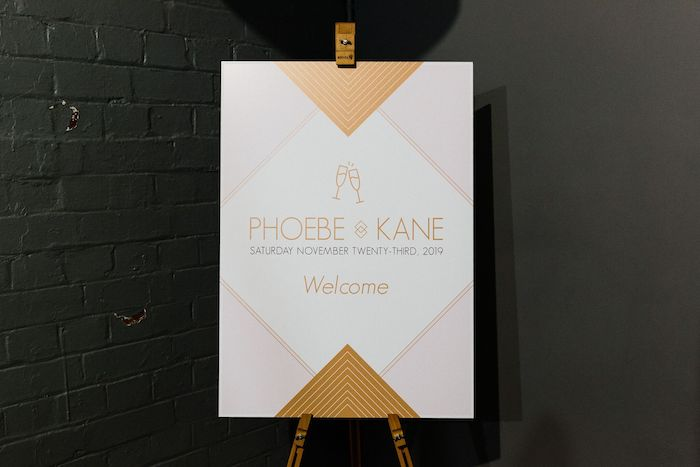 Modern Pink + Gold Welcome Sign from a Melbourne City Wedding on Kara's Party Ideas | KarasPartyIdeas.com (24)