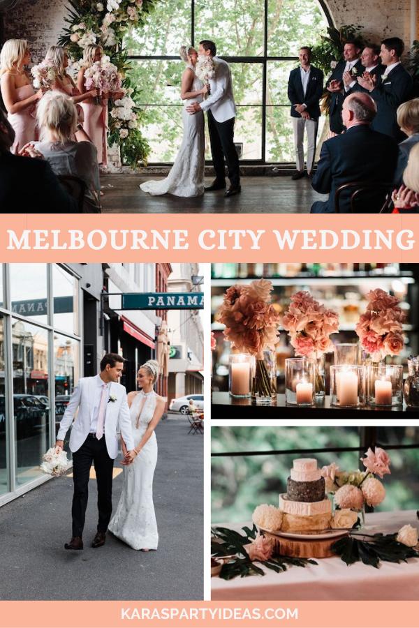 Melbourne City Wedding via Kara's Party Ideas - KarasPartyIdeas.com
