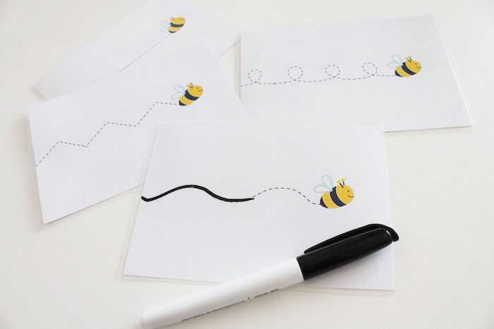 Bumble Bee Cards from a Modern Bumble Bee Dessert Table on Kara's Party Ideas | KarasPartyIdeas.com (4)