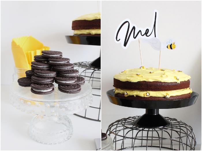 Modern Bumble Bee Dessert Table on Kara's Party Ideas | KarasPartyIdeas.com (17)