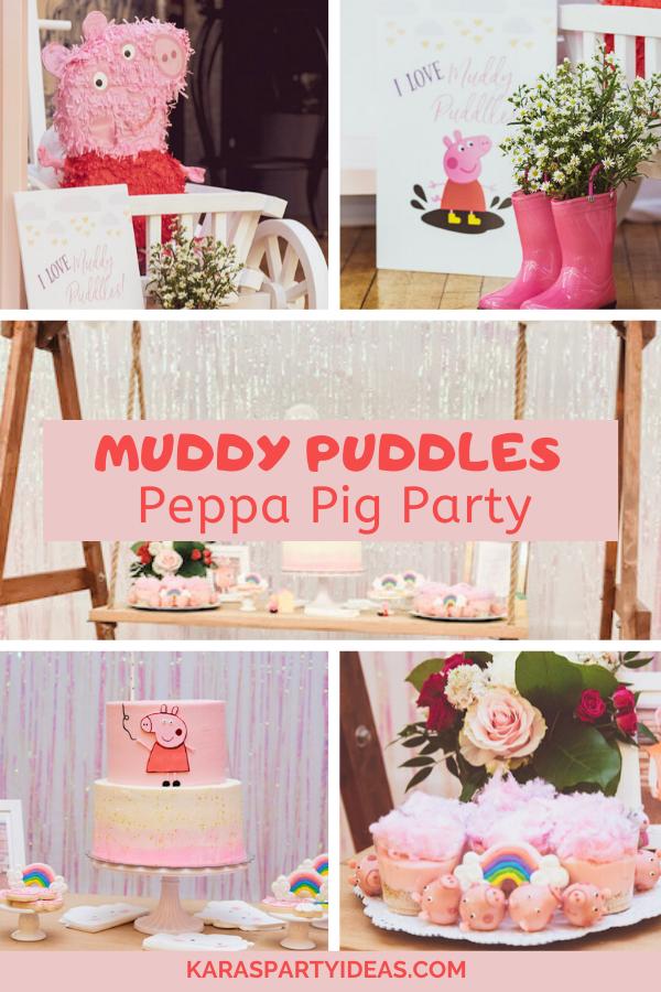Muddy Puddles Peppa Pig Party via Kara's Party Ideas - KarasPartyIdeas.com