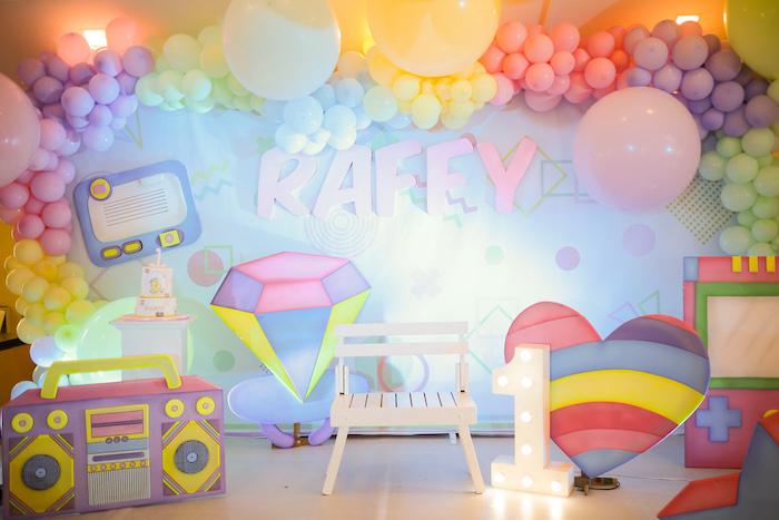Pastel 90's Pop Art Birthday Party on Kara's Party Ideas | KarasPartyIdeas.com (32)