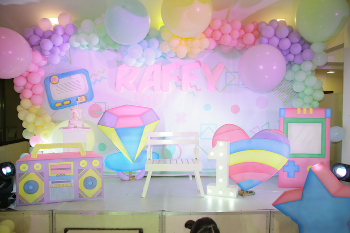 Pastel 90's Pop Art Birthday Party on Kara's Party Ideas | KarasPartyIdeas.com (10)