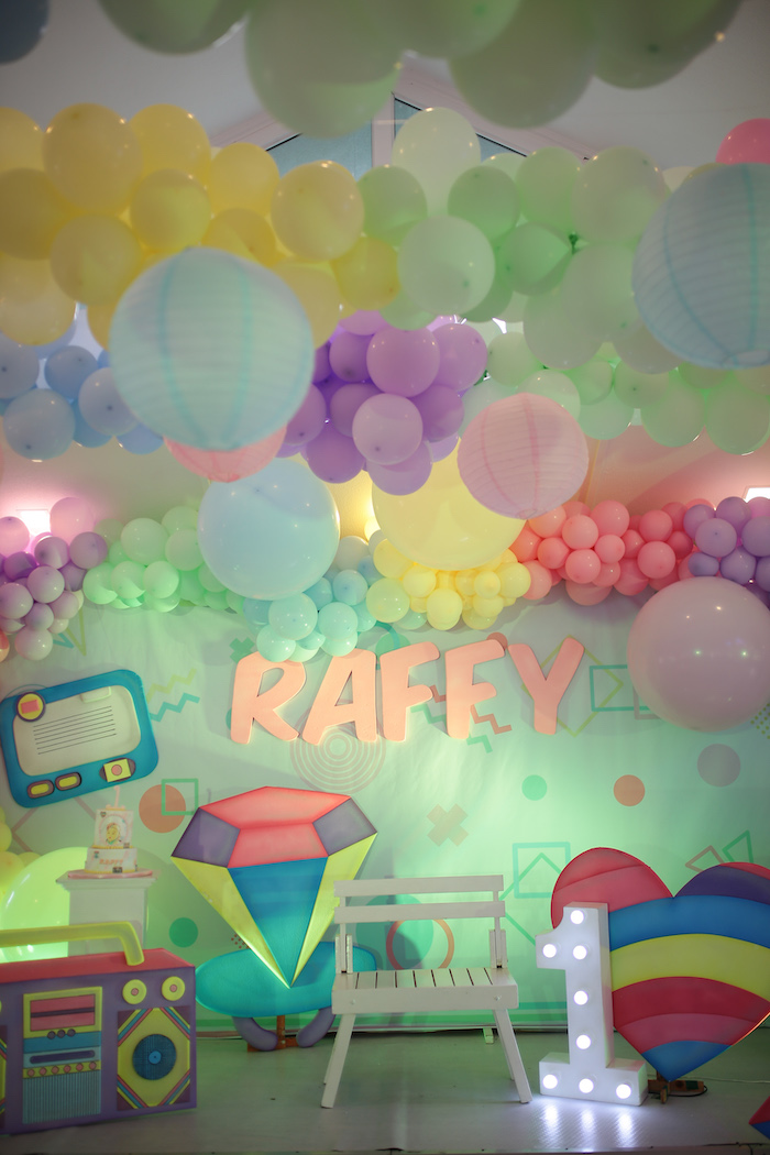 Pastel 90's Pop Art Birthday Party on Kara's Party Ideas | KarasPartyIdeas.com (31)