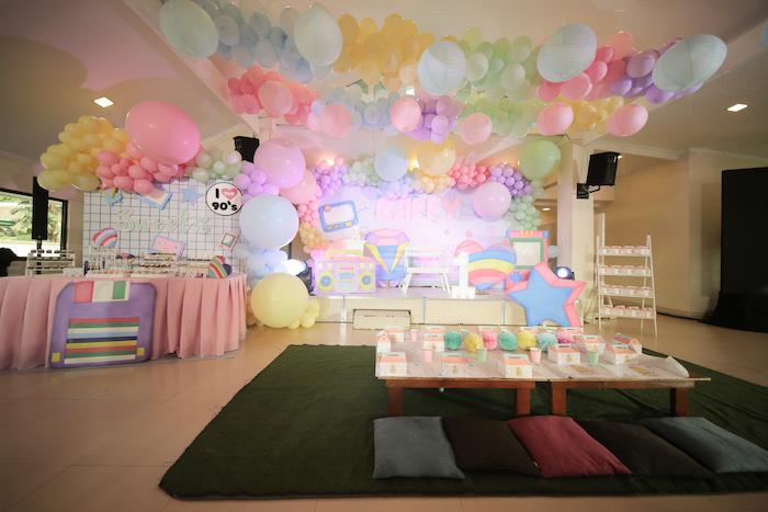 Pastel 90's Pop Art Birthday Party on Kara's Party Ideas | KarasPartyIdeas.com (25)