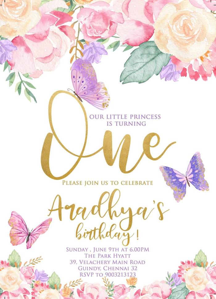 Butterfly-inspired Party Invite from a Pastel Butterfly Garden Party on Kara's Party Ideas | KarasPartyIdeas.com (6)
