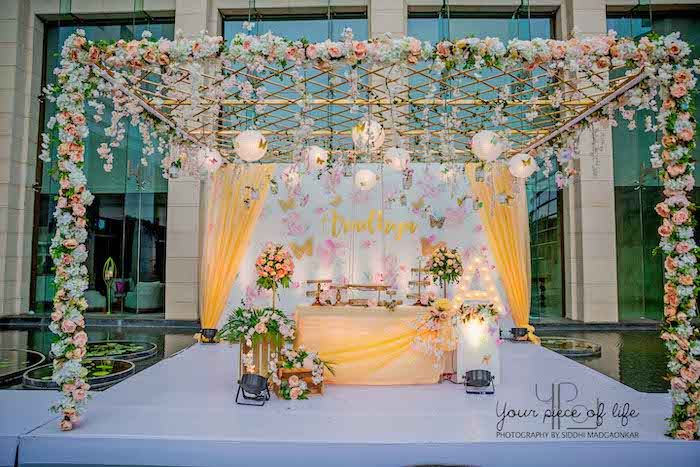 Gorgeous Floral-covered Pergola Butterfly Dessert Spread from a Pastel Butterfly Garden Party on Kara's Party Ideas | KarasPartyIdeas.com (21)