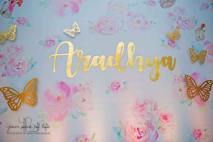 Floral Glam Butterfly Backdrop from a Pastel Butterfly Garden Party on Kara's Party Ideas | KarasPartyIdeas.com (20)