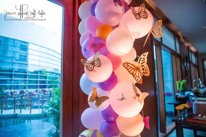Butterfly Balloon Install + Arch from a Pastel Butterfly Garden Party on Kara's Party Ideas | KarasPartyIdeas.com (18)