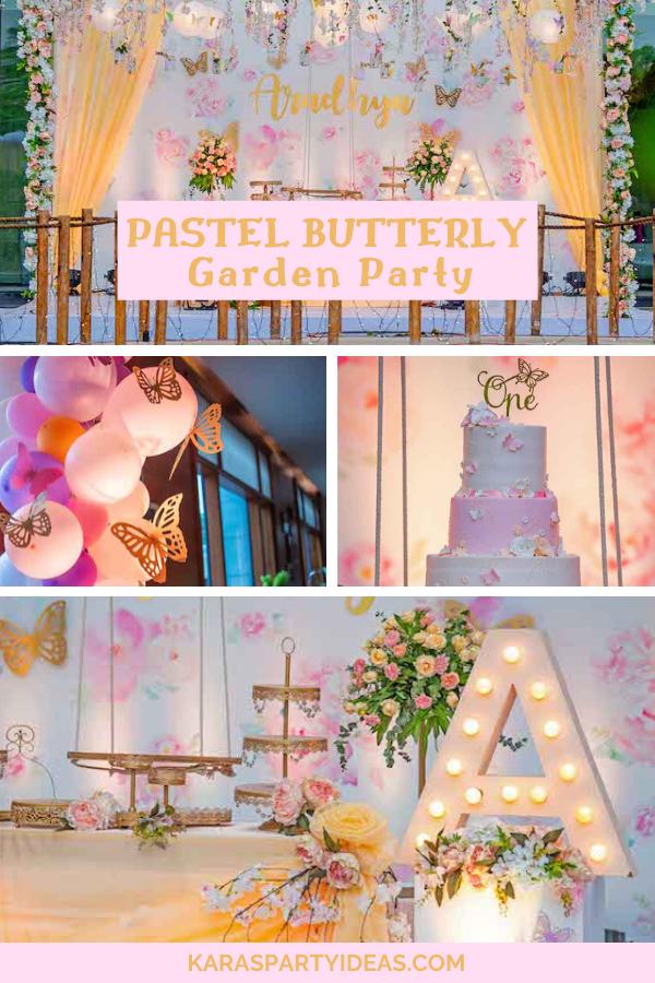 Pastel Butterfly Garden Party via KarasPartyIdeas - KarasPartyIdeas.com
