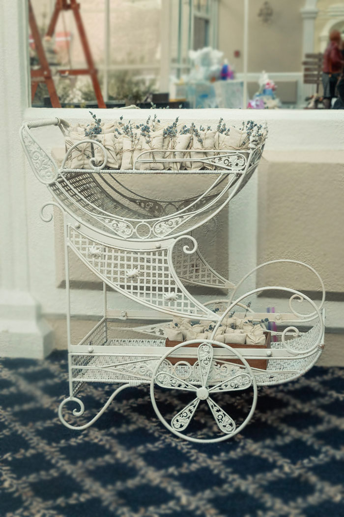 Favor Cart from a Peter Rabbit Baby Shower on Kara's Party Ideas | KarasPartyIdeas.com (18)