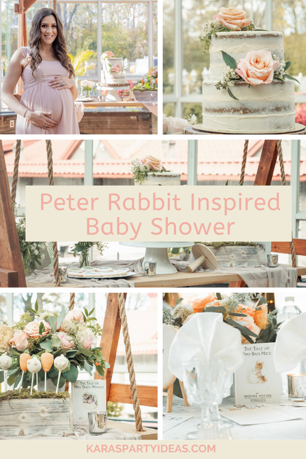 Peter Rabbit Inspired Baby Shower via Kara's Party Ideas - KarasPartyIdeas.com