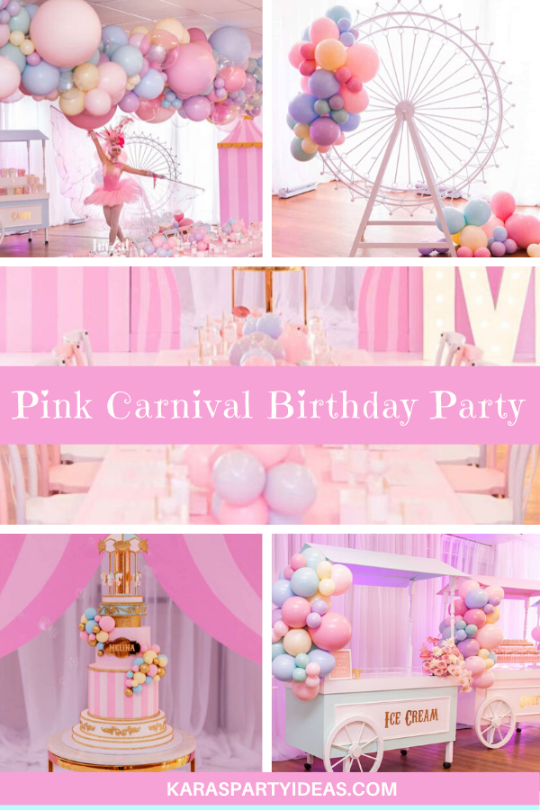 Pink Carnival Birthday Party Birthday Party via Kara's Party Ideas - KarasPartyIdeas.com