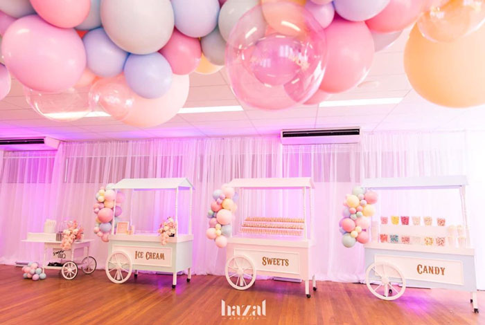 Dessert Carts from a Pink Carnival Birthday Party on Kara's Party Ideas | KarasPartyIdeas.com (7)