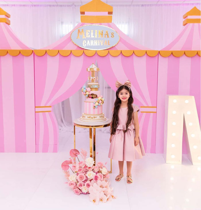 Pink Carnival Birthday Party on Kara's Party Ideas | KarasPartyIdeas.com (4)