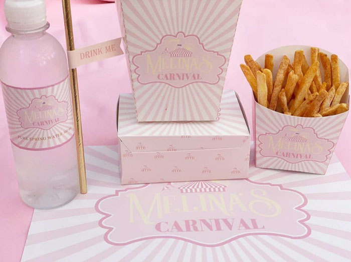 Girly Carnival Table Setting from a Pink Carnival Birthday Party on Kara's Party Ideas | KarasPartyIdeas.com (13)