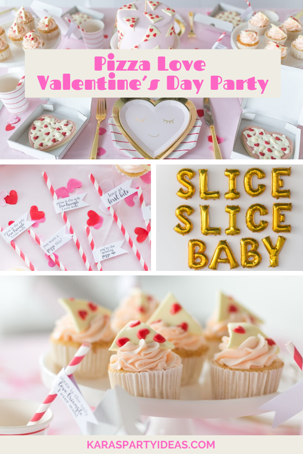Pizza Love Valentine's Day Party via KarasPartyIdeas - KarasPartyIdeas.com