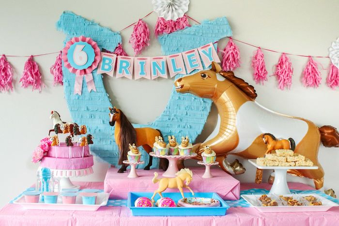 "Spirit Party Food Buffet from a ""Spirit"" Riding Free Horse Themed Birthday Party on Kara's Party Ideas 