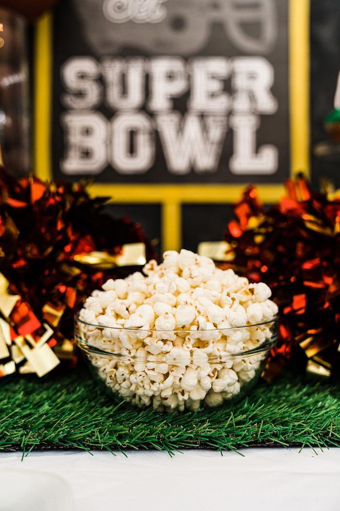 Popcorn from a Super Bowl Football Fun Party on Kara's Party Ideas | KarasPartyIdeas.com (9)