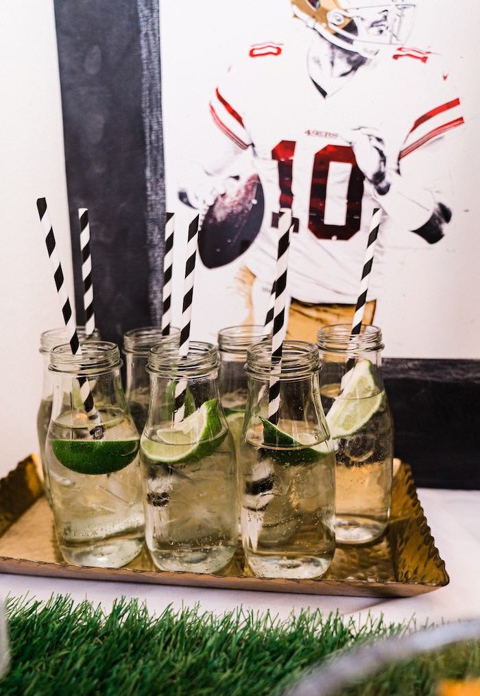 Drinks from a Super Bowl Football Fun Party on Kara's Party Ideas | KarasPartyIdeas.com (8)