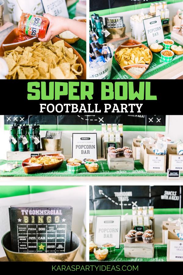Super Bowl Football Party via Kara's Party Ideas - KarasPartyIdeas.com