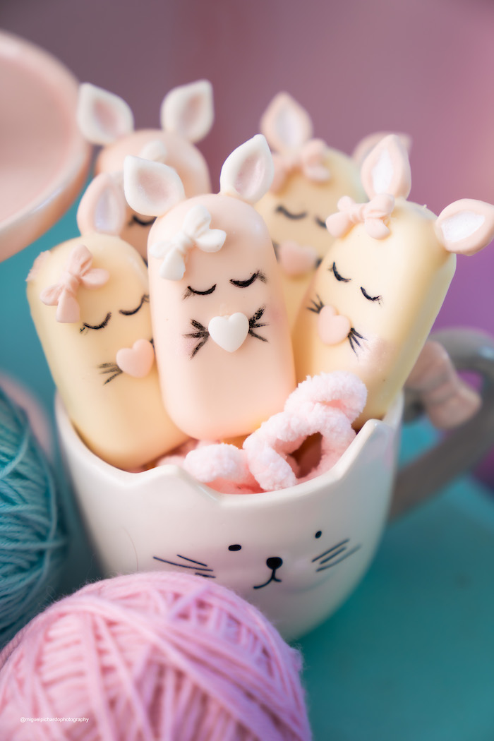 Cat-inspired Cakesicles from a Vintage Pastel Kitten Birthday Party on Kara's Party Ideas | KarasPartyIdeas.com (13)