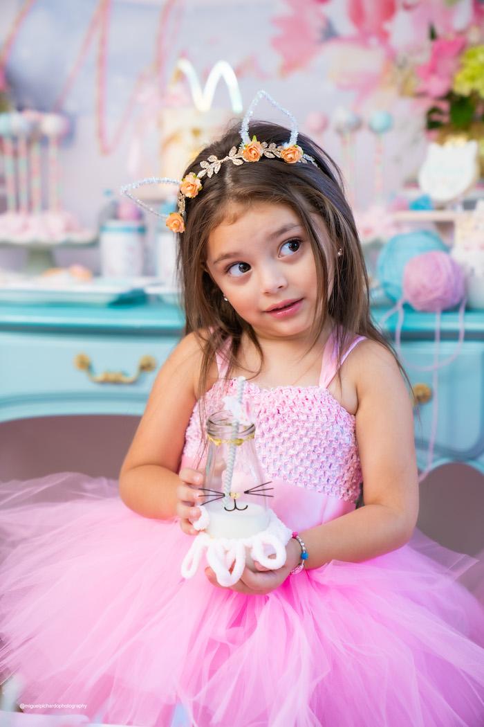 Vintage Pastel Kitten Birthday Party on Kara's Party Ideas | KarasPartyIdeas.com (2)