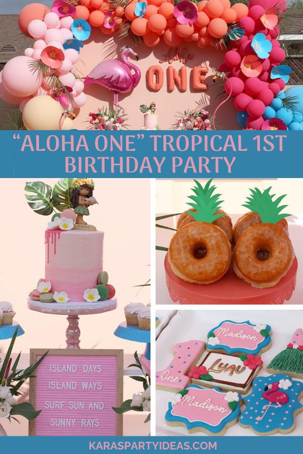"""Aloha ONE"" Tropical 1st Birthday Party via Kara's Party Ideas - KarasPartyIdeas.com"