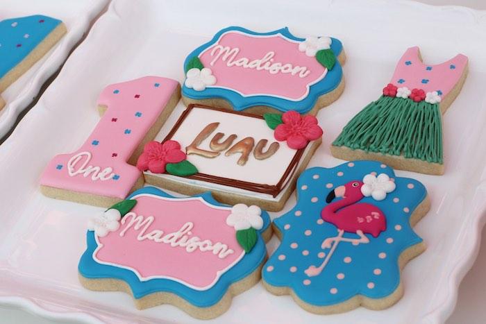 "Tropical Cookies from an ""Aloha ONE"" Tropical 1st Birthday Party on Kara's Party Ideas | KarasPartyIdeas.com (12)"