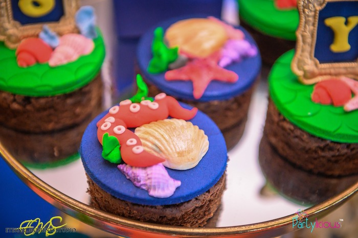 Under the Sea Brownies from an Aquaman and Princess Mera Birthday Party on Kara's Party Ideas | KarasPartyIdeas.com (41)