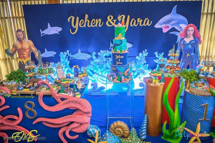 Aquaman and Princess Mera Birthday Party on Kara's Party Ideas   KarasPartyIdeas.com (39)