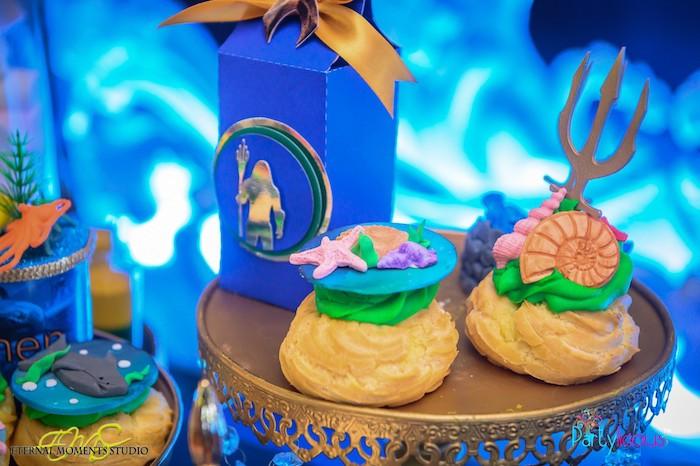Under the Sea Cream Puffs + Aquaman Favor Box from an Aquaman and Princess Mera Birthday Party on Kara's Party Ideas   KarasPartyIdeas.com (37)