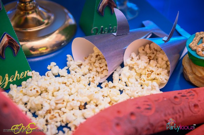 Shark Popcorn Cones/Cups from an Aquaman and Princess Mera Birthday Party on Kara's Party Ideas | KarasPartyIdeas.com (33)