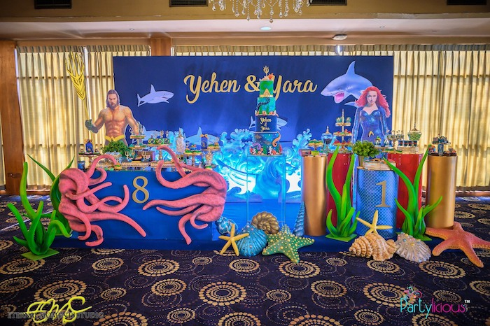 Aquaman and Princess Mera Birthday Party on Kara's Party Ideas   KarasPartyIdeas.com (27)