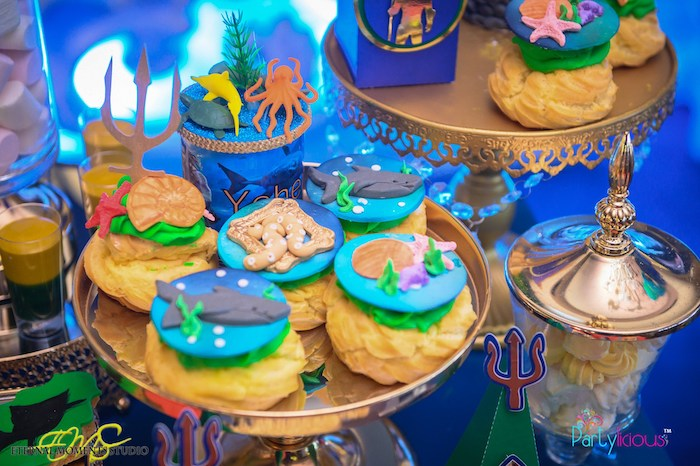 Under the Sea Cream Puffs from an Aquaman and Princess Mera Birthday Party on Kara's Party Ideas | KarasPartyIdeas.com (26)